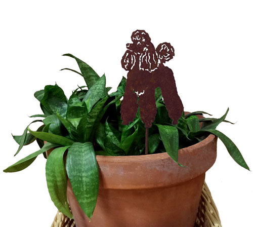 Poodle Plant Stake