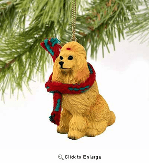 Poodle Tiny One Christmas Ornament Apricot