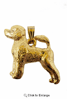 Portuguese Water Dog 24K Gold Plated Pendant