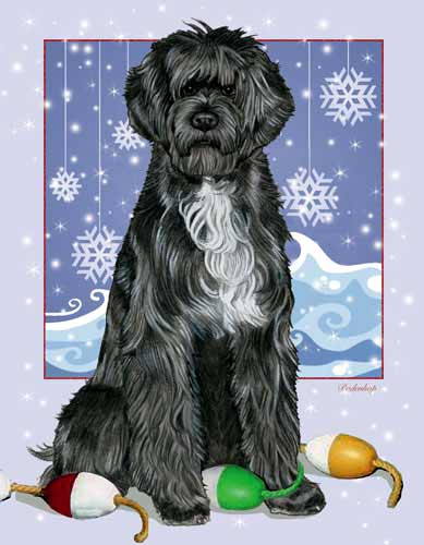 Portuguese Water Dog Christmas Cards