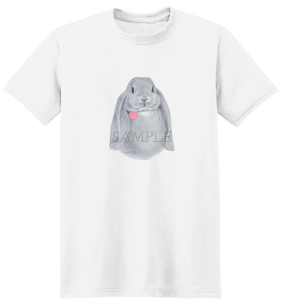 Rabbit T-Shirt - With Pink Flower
