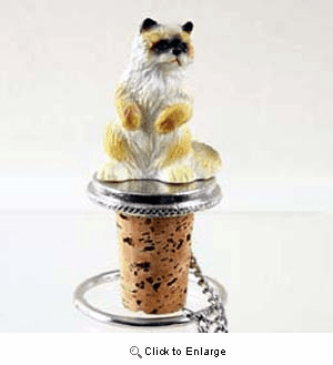 Ragdoll Cat Bottle Stopper