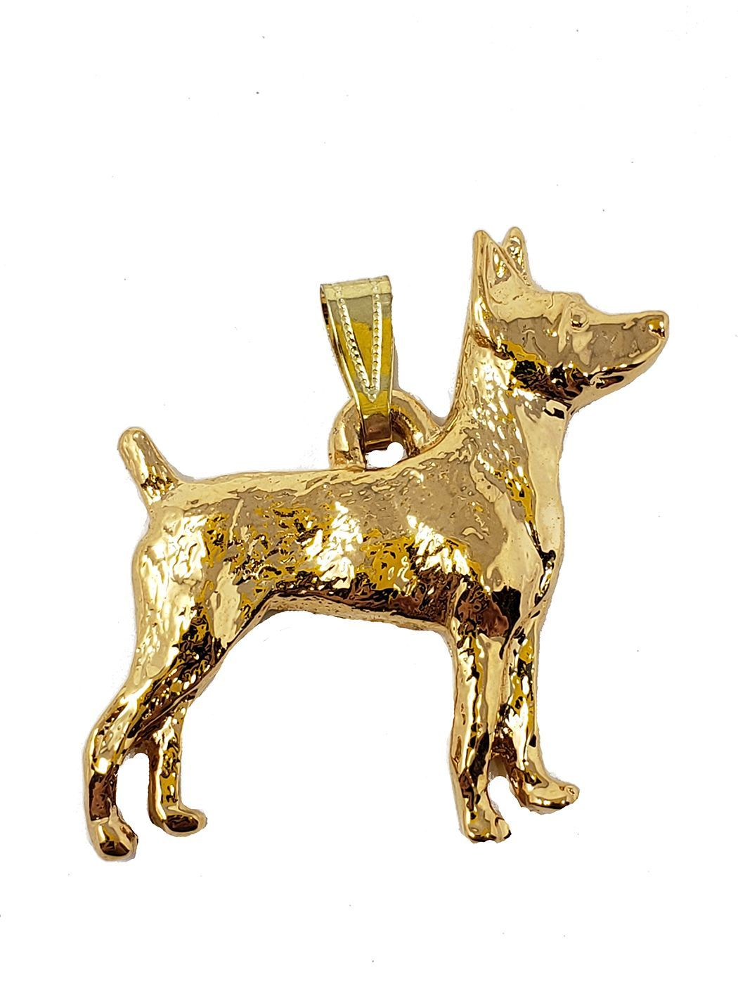 Rat Terrier 24K Gold Plated Pendant