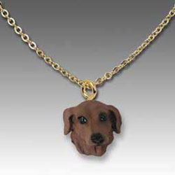 Red Dachshund Necklace
