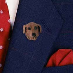 Red Dachshund Pin Hand Painted Resin