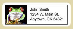 Red Eyed Tree Frog Address Labels