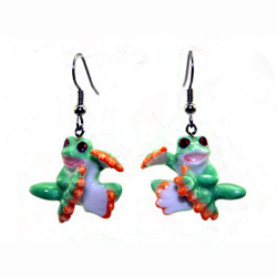 Red Eyed Tree Frog Earrings True to Life