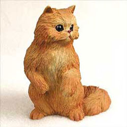 Red Persian Cat Figurine