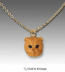 Red Persian Cat Necklace
