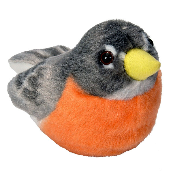 Audubon II American Robin Stuffed Animal - 5