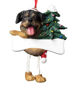 Rottweiler Christmas Tree Ornament - Personalize
