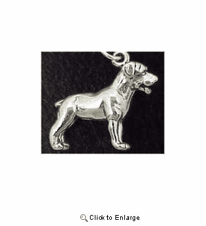 Rottweiler Sterling Silver Charm