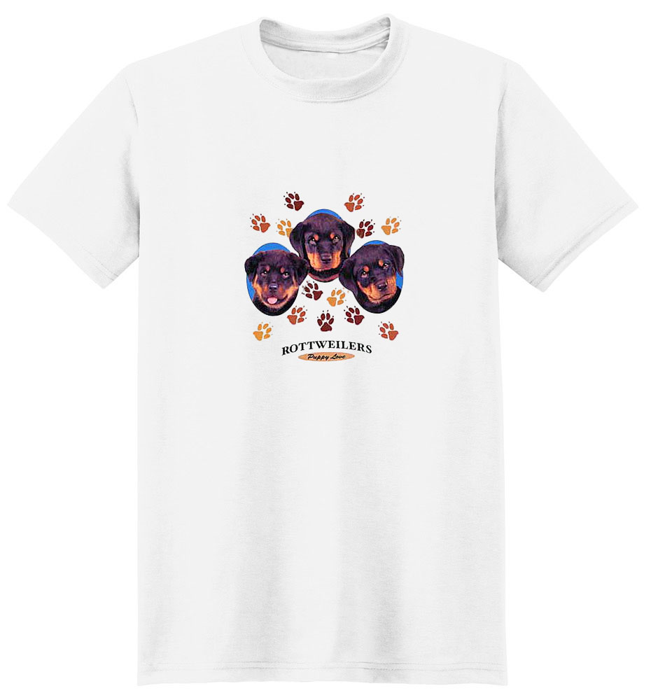 Rottweiler T-Shirt - Puppies and Paws