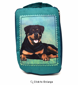 Rottweiler Tote Bag - Foldable to Pouch
