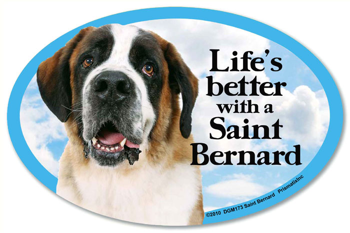 Saint Bernard Car Magnet - Life's Better