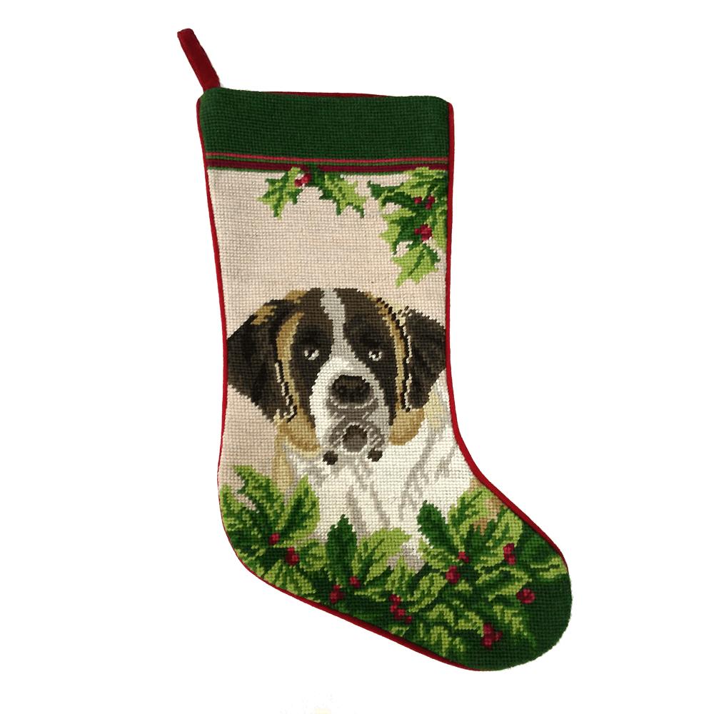 Saint Bernard Christmas Stocking