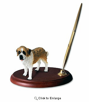 Saint Bernard Pen Holder (Smooth Coat)