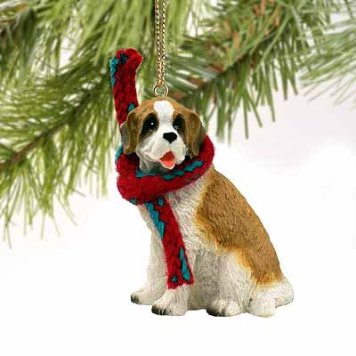 Saint Bernard Tiny One Christmas Ornament Rough Coat