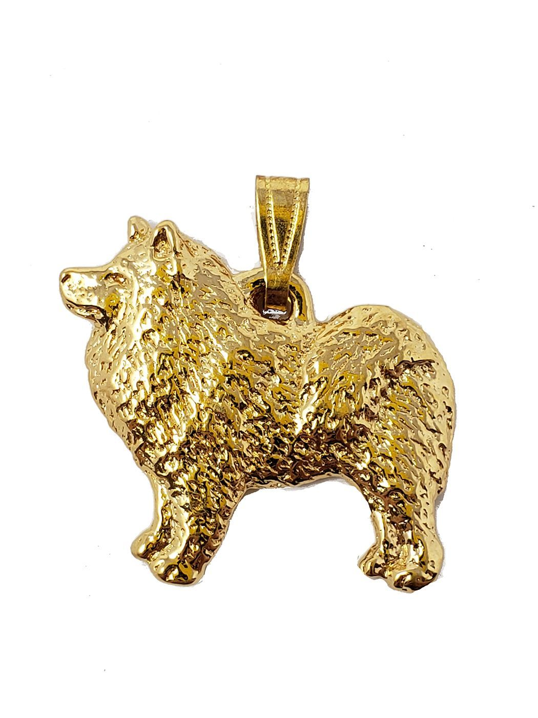 Samoyed 24K Gold Plated Pendant