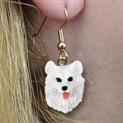 Samoyed Authentic Earrings