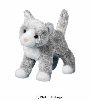 """""""Scatter""""  Gray Cat Plush 8"""" by Douglas Toy"""