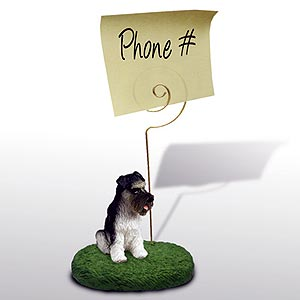 Schnauzer Note Holder (Gray Uncropped)