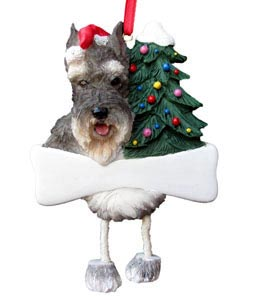 Schnauzer Christmas Tree Ornament - Personalize (Cropped)