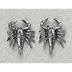 Scorpion Earrings Sterling Silver