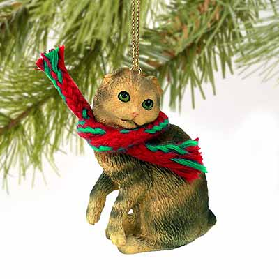 Scottish Fold Cat Tiny One Christmas Ornament
