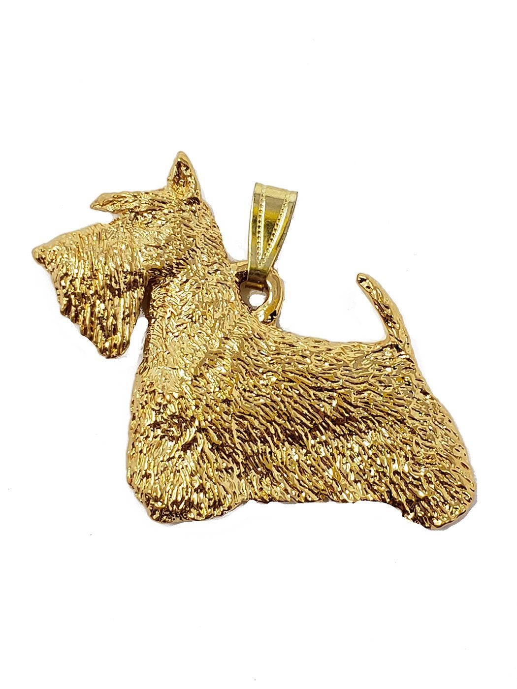 Scottish Terrier 24K Gold Plated Pendant