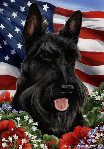 Scottish Terrier House Flag