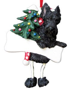 Scottish Terrier Christmas Tree Ornament - Personalize