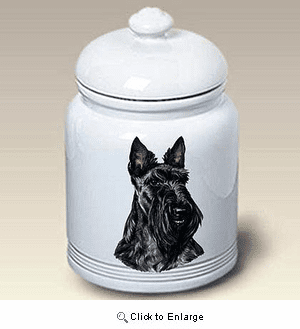 Scottish Terrier Treat Jar
