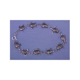Sea Turtle Bracelet Sterling Silver