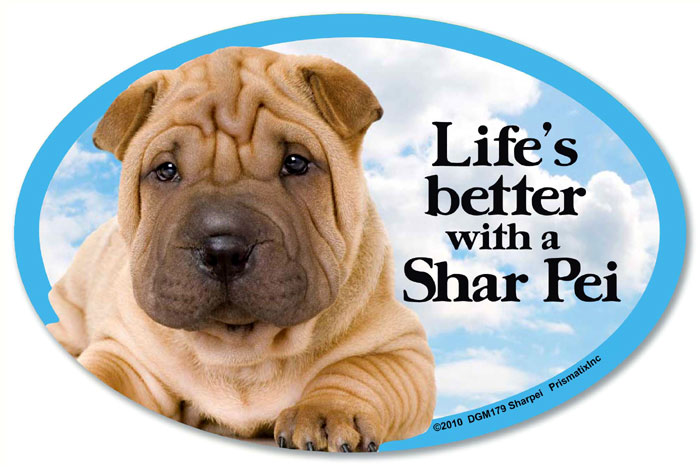 Shar Pei Car Magnet - Life's Better