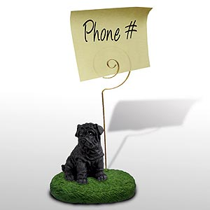Shar Pei Note Holder
