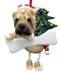 Shar Pei Christmas Tree Ornament - Personalize
