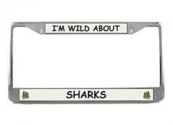 Shark License Plate Frame