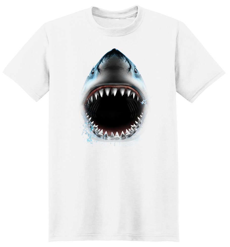 Shark T Shirt Full Face