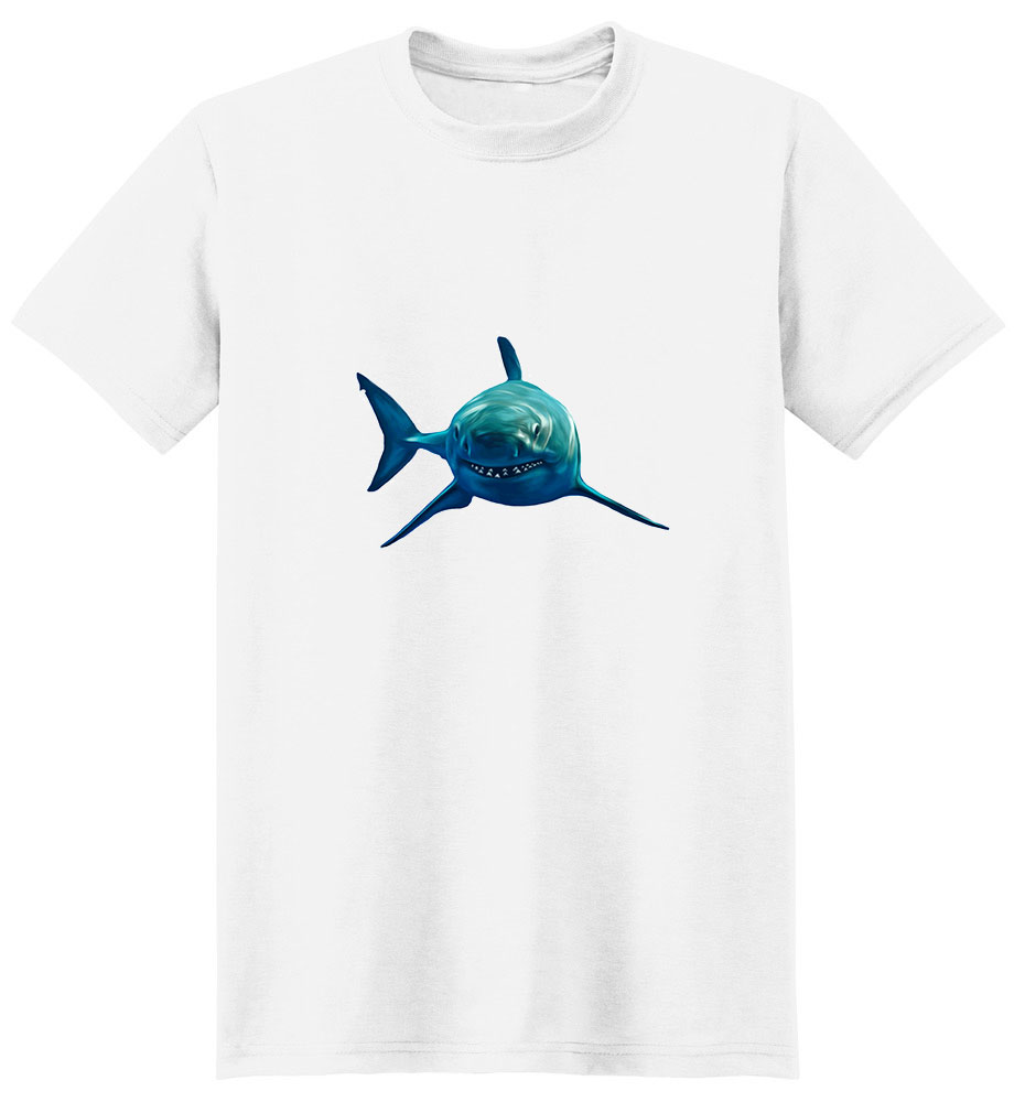 Shark T Shirt - Impressive Portrait