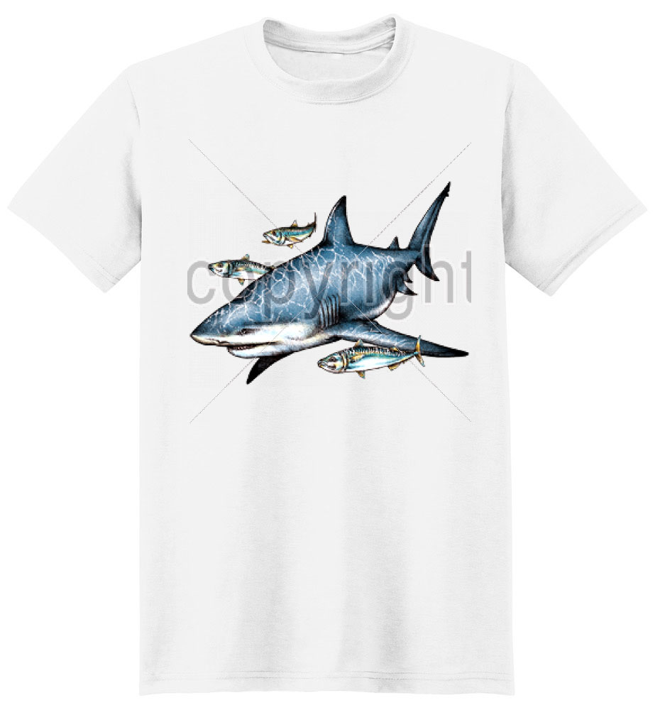 Shark T Shirt Swimming Along