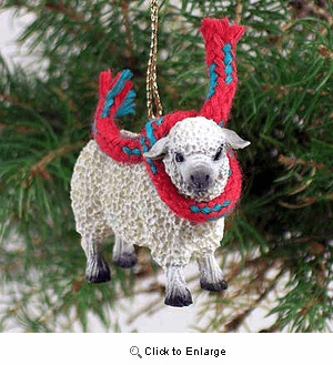 Sheep Tiny One Christmas Ornament White