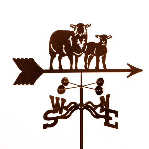 Sheep Weathervane with Lamb