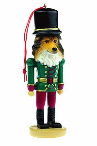 Sheltie Ornament Nutcracker