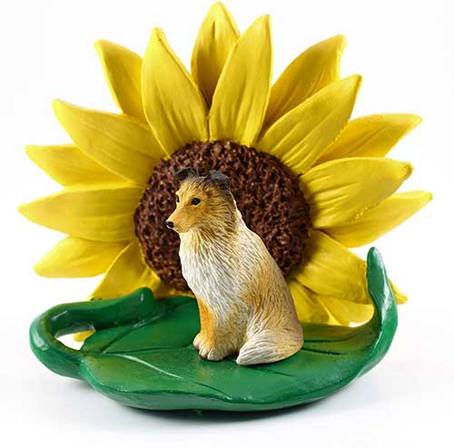 Sheltie Sable Sunflower Figurine