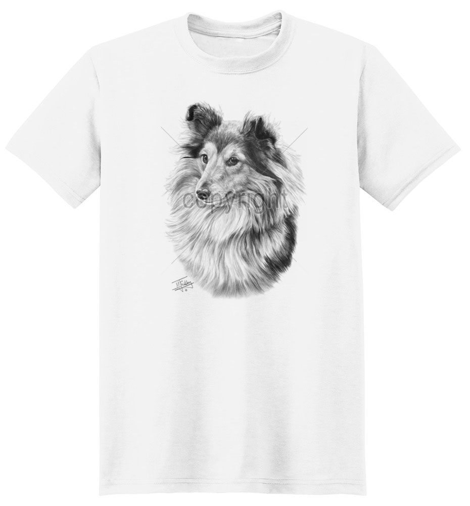 Sheltie T Shirt by Mike Sibley