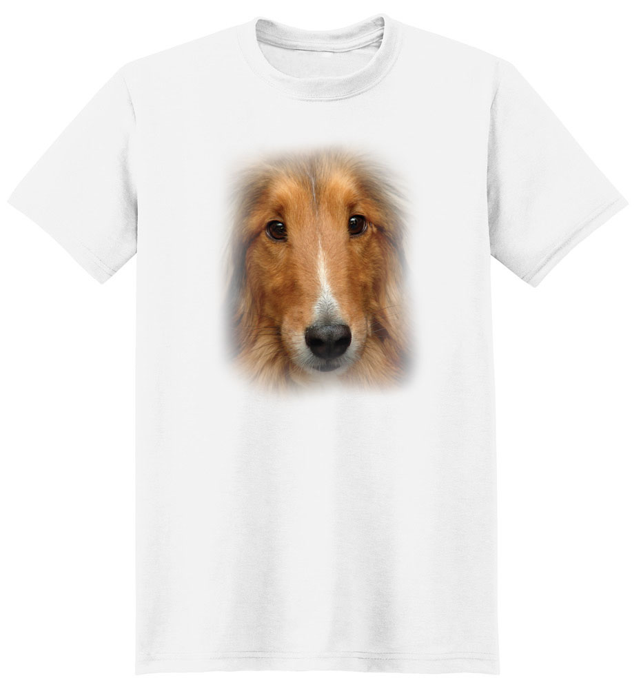 Sheltie T Shirt Full Face