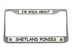 Shetland Pony License Plate Frame