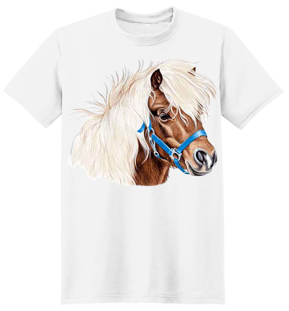 Shetland Pony T-Shirt - Brave and Spirited