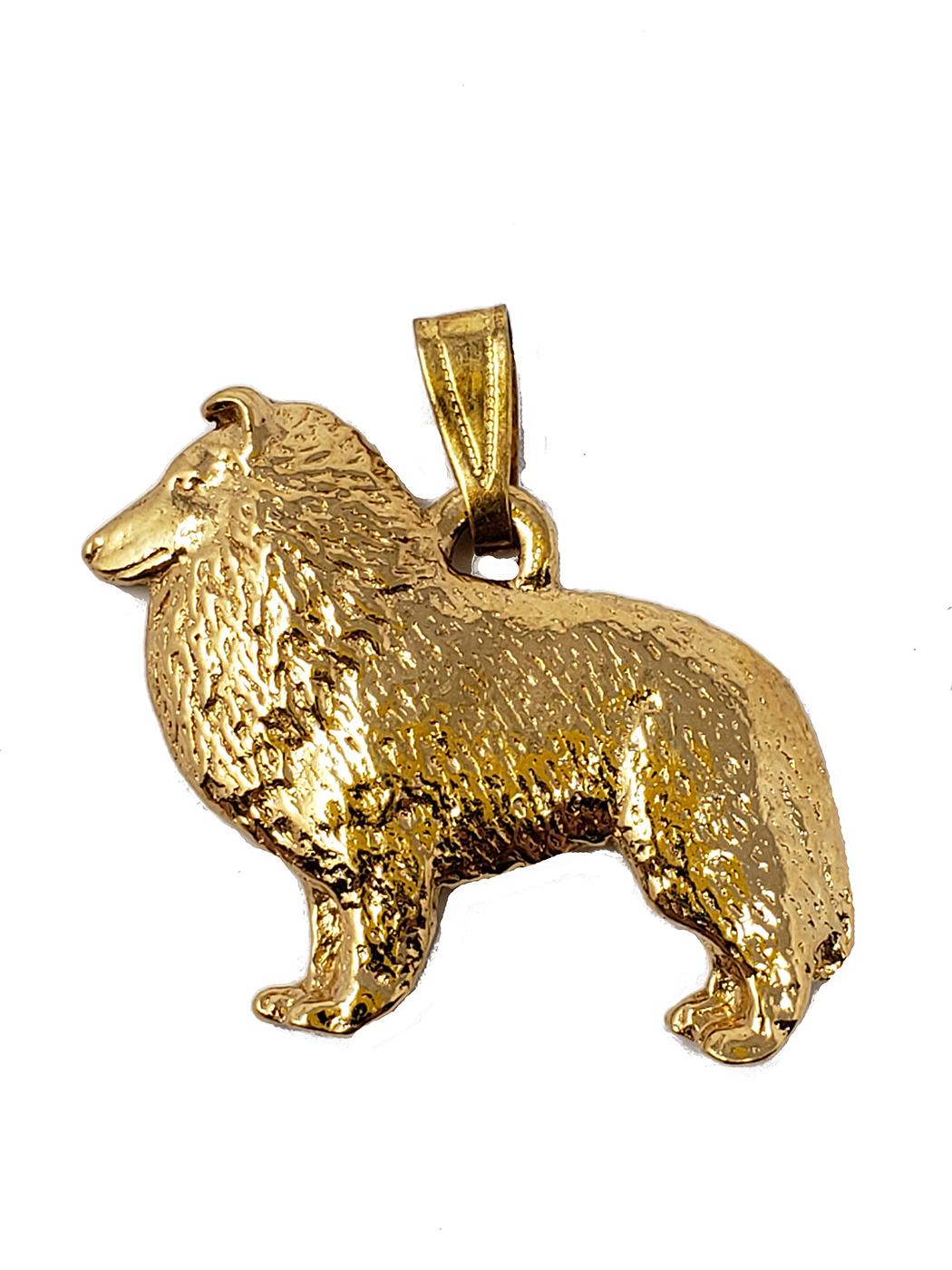 Shetland Sheepdog 24K Gold Plated Pendant